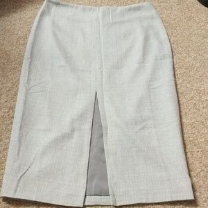 Pencil Skirt Grey Sz Small With Slit in front